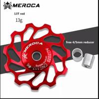 Pulley Ceramic Bearing 11T dan 13T Merk Meroca Original Terbaru 2021