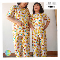 Baju Tidur Katun Couple Mom-Kids