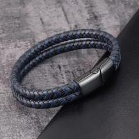Gelang kulit Premium Magnetic pria / gelang cowok keren (high quality)
