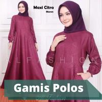 Baju Gamis Setelan Dress Wanita Muslimah Syari Simpel Kekinian