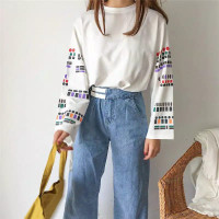 Blouse wanita cewek korean style lengan panjang / Lijee blouse