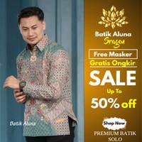 Kemeja Batik Pria Premium Casual Baju Batik Kombinasi Keris Katun BM74