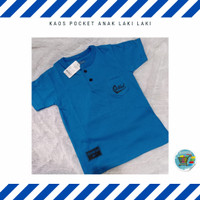Kaos Anak Laki-Laki Pocket Oshkosh 8-13 Tahun - Navy, 14T