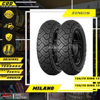 PAKET BAN MOTOR MATIC NMAX BAN ZENEOS MILANO 120/70 - 150/70 RING 13