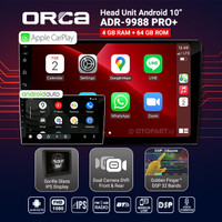 Head Unit Android Auto CarPlay 10″ inch ORCA ADR-9988 PRO+ Plus DVR