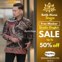Kemeja Batik Pria Premium Baju Batik Kombinasi Keris Jumbo Casual BM27