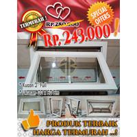 SUPER PROMO...! Jendela casement aluminium 30x60 cm Putih