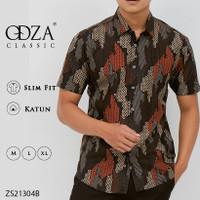 Baju Batik Slimfit Lengan Pendek Pria - M