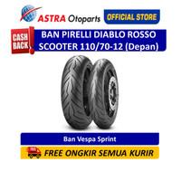 Pirelli Diablo Rosso Scooter 110/70-12TL 47P DRScoF Ban Depan (2925300