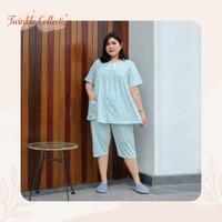 Baju Tidur Piyama Jumbo Celana 3/4 Kaos Katun GREET D-413 BD Size XL