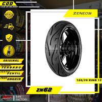 BAN MOTOR RING 17 BAN TUBLES RING 17 BAN ZENEOS ZN62 120/70 RING 17