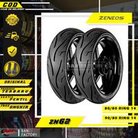 PAKET BAN MOTOR RING 14 MATIC TUBLES ZENEOS ZN62 80/80 90/80 RING 14