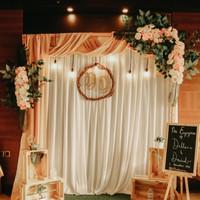 Dekorasi backdrop pernikahan 2.2meter