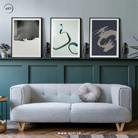 Lukisan Dinding-Set In an Approach-Matte-Frame Black 40x60