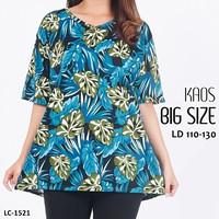 Baju Wanita Baju Atasan motif bunga/ Blouse bunga fashion baju jumbo - Hijau