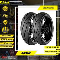 PAKET BAN MOTOR RING 14 MATIC TUBLES ZENEOS ZN62 90/80 100/80 RING 14