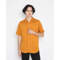Kemeja Pria Erigo Short Shirt Otucha Rayon Mustard