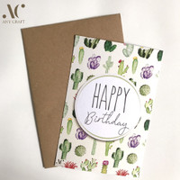 Kartu Ucapan Ulang Tahun Cactus Kaktus 10x15 Birthday Greeting Card