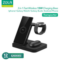 Zola 3 IN 1 Fast Wireless Charger 15W Pad Dock For Galaxy Watch & Buds