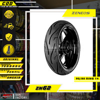 BAN MOTOR MATIC BAN ZENEOS ZN62 BAN TUBLES MOTOR MATIC 90/80 RING 14