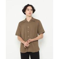 Kemeja Pria Erigo Short Shirt Eugene Rayon Olive