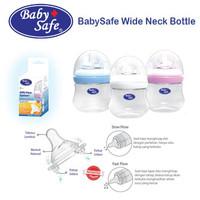 BABY SAFE BOTTLE WIDE NECK MILK FLOW SYSTEM 125ML WN001 / BOTOL SUSU