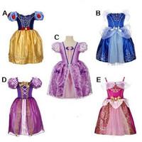 Usia Cocok Baju 2-10 Untuk Rapunzel Anak Putri Dress Kostum Tahun Auro