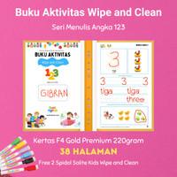 Buku Aktivitas Wipe and CleanAngka dan Berhitung merk Secil Mainan