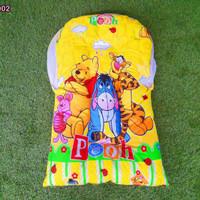 kasur lipat bayi kelambu motif winnie the pooh set