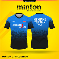 Baju kaos badminton murah MINTON 018 BLUEBERRY jersey sublim printing