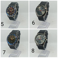 Jam tangan pria rubber analog swiss time beneton 2 original asli