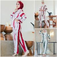 Fashion Set Baju Batik Tiedye Wanita Dewasa Remaja Muslim Kekinian