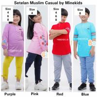 Setelan Muslim Casual Baju Muslim Anak Set by Minekids