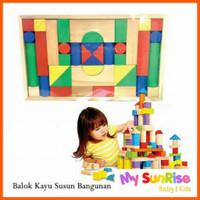 Mainan Balok Kayu Susun / Mainan Edukasi / Blok Kayu / Wooden Block