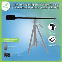 Horizontal Bar Tripod - T Bracket Pixmix (Tidak termasuk Tripod)