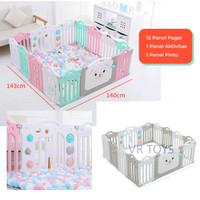 Baby Fence Pagar Bayi Babyroom Pagar Anak Bayi Pagar Playground(12+2)