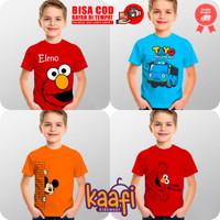 Baju Kaos Anak Cowok Laki - Laki Karakter Tayo Elmo Mickey Mouse - Mickey Mouse, S