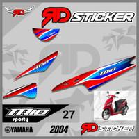 (cod) Striping Sticker MIO SPORTY 2004 desain LIS semi full racing 27