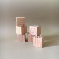 balok kayu kubus kayu wooden toys mainan anak 4 x 4 cm wooden dice