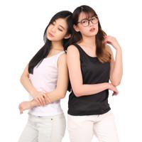 Monellina Fashion Baju Tank Top Singlet XXL Jumbo Murah Wanita Sinly