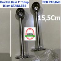 Bracket Pipa 1 inch Tinggi 15,5cm Braket Rak Gantung Dapur km Mandi