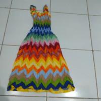 sovenir bali baju Anak dress karet rayon bunga khas bali size L