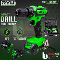 Ryu Bor Tembok Baterai Cordless RCI 20V Impact Drill Set 20 V Battery