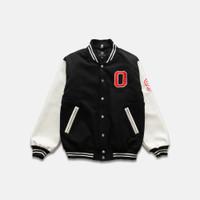 OOTDSUPPLY Varsity Jacket BrokenWhite