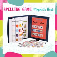 Mainan Edukasi Anak Spelling Game Buku Magnet Belajar Membaca Menulis