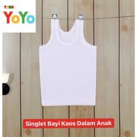 Singlet Bayi Kaos Dalam Anak / Baju Singlet Kaos Dalam Anak Bayi Putih