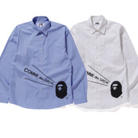 Bathing Ape X CDG Shirt (Kemeja) 100% Original
