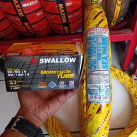 Paketan Ban luar dan dalam Swallow 50/100-14 ban cacing(babyLook)