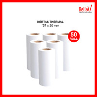 Kertas Thermal Printer uk 57 x 30 mm (50 roll)
