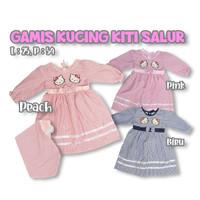 Gamis Bayi Perempuan Hijab Baju Lebaran Anak Hello kitty